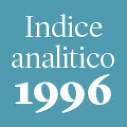 Indice analitico annata 1996