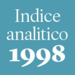 Indice analitico annata 1998
