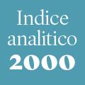Indice analitico annata 2000