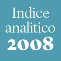 Indice analitico annata 2008