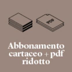 Abbonamento alla rivista cartacea + .pdf | Ridotto