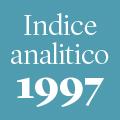 Indice analitico annata 1997