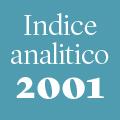 Indice analitico annata 2001