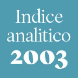Indice analitico annata 2003