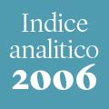Indice analitico annata 2006