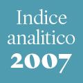 Indice analitico annata 2007