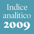 Indice analitico annata 2009