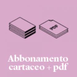 Abbonamento alla rivista cartacea + .pdf