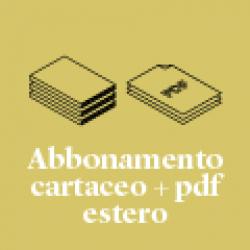 Abbonamento alla rivista cartacea + .pdf   in Europa